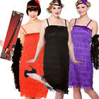 Flapper Costume + Holder Ladies 1920s Charleston Jazz 20s Womens Fancy Dress