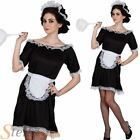 Ladies Sexy Classic French Maid House Cleaner Outfit Fancy Dress Costume