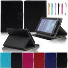 7 Universal Folio Leather Stand Case Cover + Stylus For 7 Inch Tablet PC MID F
