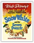 Snow White Seven Dwarfs Walt Disney Vintage Film Movie Ar...