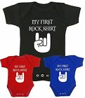BabyPrem Baby Clothes Boys Girls MY FIRST ROCK SHIRT Music Vest Bodysuit Gifts