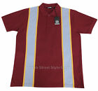 Relco 60s Style Stripe Pique Polo Shirt BURGUNDY Mod Northern Soul 100% Cotton
