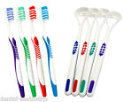 Toothbrushes & Tongue Scrapers x 4 ~ Family Pack 4 Colours, Brushes & Cleaners