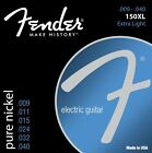 Fender 150XL Pure Nickel Ball End Electric Guitar Strings 9-40 extra light gauge