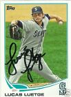 Lucas Luetge Signed Auto 2013 Topps Seattle Mariners Card - COA - MLB - Rice