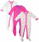 Girls Chainstore BUTTERFLY Print Pack of 3 Sleepsuits Tiny Baby to 23 Months NEW