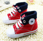 Infant Toddler Baby boy Girl Red Soft Sole Crib Shoes Sneaker Size 0-18 Months