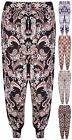 Womens Plus Size Paisley Print Ladies Ali Baba Harem Long Pants Legging Trousers