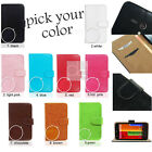 FP Synthetic Leather Wallet Case Stand Pouch Cover w Card Slot For Motorola