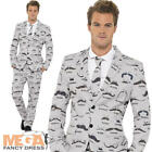 Moustache Stand Out Suit Men's Fancy Dress Stag Party Adults Movember Costume