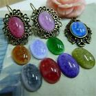 20x Colorful Charm Style Flatback Resin Cabochon Dome 10*14mm 16mm Bead Hot P567