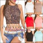 NEW LADIES SLEEVELESS CROP TANK TOP XS S M L WOMENS CROPPED SINGLET SHIRT online