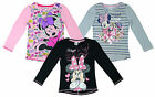 Girls Disney Minnie Mouse Music Long Sleeve Cotton T-Shirt Top 3 to 8 Years
