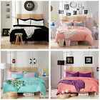 Single/Queen/King Size Bed Quilt/Doona/Duvet Cover Set New 100%Cotton Two Colour