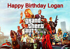 Grand Theft Auto Computer Game Party Cake Decoration Custom Icing Sheet Birthday