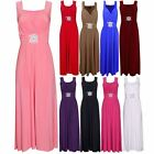 WOMENS LADIES LONG LENGTH HALTER NECK BUCKLE PARTY DRESS MAXI PLUS SIZE 16-24