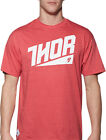 Thor Mens Red Heather Ascend Casual Short Sleeve T-Shirt Tee