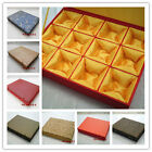 New Design Chinese Handmade Vintage Silk Jewelry Box With 12 Grid