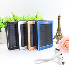 50000mAh 2USB Power Bank Solar Battery Charger for Cell Phones Camera Tablet LED