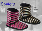 LADIES KNITTED BOOTIE SLIPPER COOLERS  FREE POST