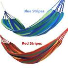 Hanging Hammock Portable Cotton Swing Fabric Rope Outdoor Camping Canvas Bed XT