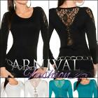 NEW SEXY WOMEN'S FASHION lace JUMPERS shop online ladies KNIT LACY TOP PULLOVERS