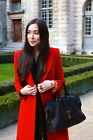 ZARA BLOGGERS RED WOOL DOUBLE BREASTED COAT SIZE MEDIUM