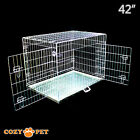 Dog Cage Cozy Pet Puppy Crate Silver 5 Sizes Travel Crate Cat FREE 48H Delivery