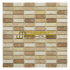 """Marble Mosaic Tile, """"Nevada Collection"""" MM 3201 - Loaf, 5/8""""X2"""", Polished"""
