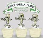 Halloween Mummy Zombie Party EDIBLE Cupcake Toppers PRECUT cup cake