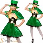 Ladies Lucky Leprechaun Costume Sexy Irish St Patricks Day Fancy Dress Outfit