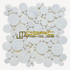 """Marble Mosaic Tile, """"Bolle Collection"""" MM 9101 - Carrara White, Rounds, Polished"""
