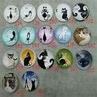25mm Round Cute Cat Animal Photo Handmade Glass Dome Cabochon Cameo Setting P181
