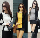 Fashion Women lady Slim Casual Top Long Sleeve T Shirt Blouse T-Shirt Tops NEW
