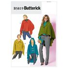 Butterick 5819 Wrap Cape Collar Hood XS to Plus Size Sewing Pattern B5819
