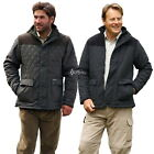 Mens Diamond Casual Quilted Jacket Champion Country Estate Lewis Shoulder Patch