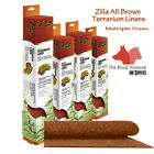 Zilla Liner Terrarium Brown Free Shipping