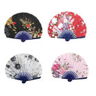 Seashell Design Flower Printed Japanese Style Folding Hand Fan