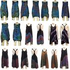 NEW Ladies Tie Dye Top Hippy Hippie Gypsy Boho Casual Festival Long Loose Dress
