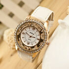 Womens Fashion Diamond Rhinestone Faux Leather Ladies WristWatch Quartz Watches