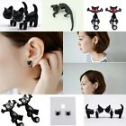 Lovely Animal Black Spider/Cat Pierced Ear Stud Women Fashion Earring Jewelry
