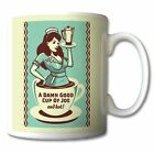 50's American Diner A Damn Good Cup of Joe COFFEE MUG personalised gift mugs