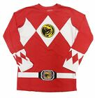 Authentic Power Rangers Red Ranger Long Sleeve Costume Mens T-shirt Tee