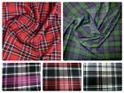 "Stretch Tartan Fabric PolyViscose - 57"" (145cm) Wide - per metre or half - Plaid"