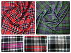 "Stretch Tartan Fabric PolyViscose - 57"" (145cm) Wide - per metre or half -Plaid"