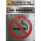 NO SMOKING stick on signs Choice of 3
