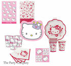 Hello Kitty Girls Birthday Party Plates Cups Napkins STOCK CLEARANCE!!