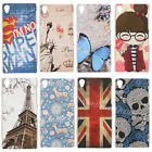 Slim Patterned Painted PC Hard Skin Cover Case For Sony Xperia Z3 Compact Z4 E4g