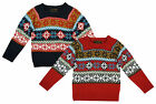 Boys Soul & Glory Snowflake Knitted Winter Crew Neck Jumper 3 to 8 Years NEW