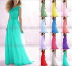 New Formal Lace Evening Ball Gown Party Prom Bridesmaid Dresses Stock Size 6-26